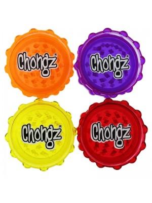 Wholesale Chongz 2-Part Plastic Grinder (75 mm) - Assorted Colours