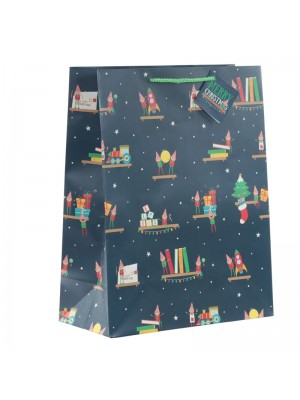 Christmas Elf Gift Bag - Large (26x33x12cm)