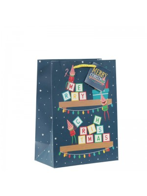 Christmas Elf Gift Bag - Large (16x33x12cm)