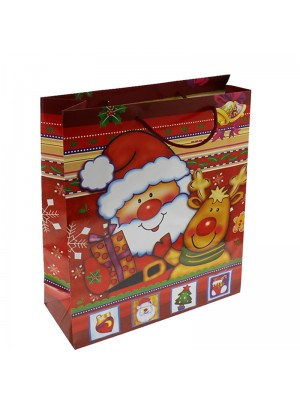Christmas Santa Gift Bag Medium (26 x32 x10 cm)