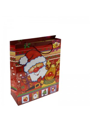 Christmas Santa Gift Bag Small (12x15x6cm)