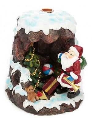 Wholesale Christmas Santa's Grotto Backflow Incense Burner-15cm