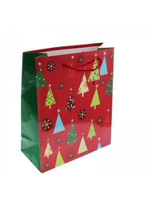 Christmas Tree Gift Bag Medium (18x23x10cm)