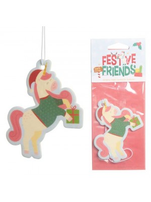 Wholesale Christmas Unicorn Festive Friends Cookie Air Freshener