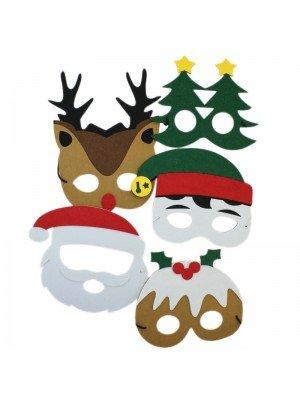 Christmas Design Felt Face Masks - Assorted Designs