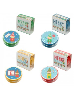 Christmas Elf Lip Balm Tins - Assorted Flavours