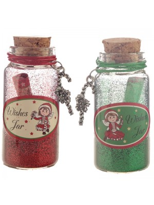 Christmas Fairy Glitter Wishes Jar