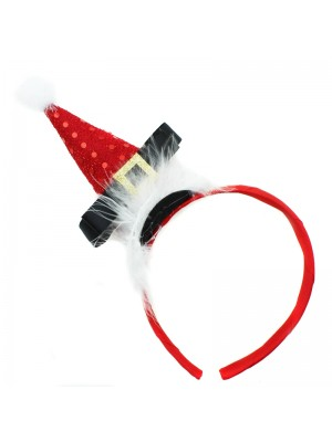 Christmas Santa Claus Design Headband - Red