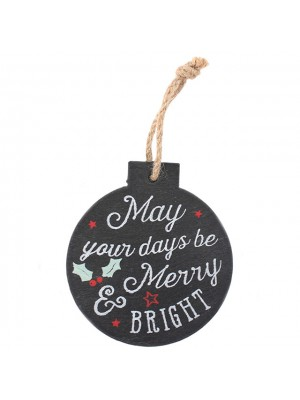 Christmas Slate Decoration Hanging Signs