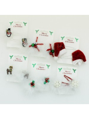 Christmas Snap Clips - Assorted