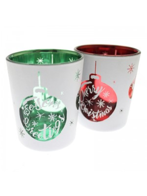 Christmas Tealight & Votive Holders Set - Assorted