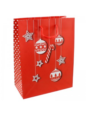 Christmas Theme Red Gift Bag - 26 x 32 x 10cm