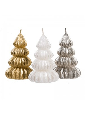 Christmas Tree Design Candle - Assorted Colours