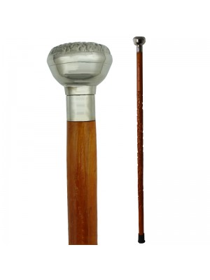 Chrome Knob Handle Walking Stick