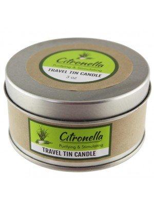 Citronella Purifying & Stimulating Travel Tin Candle - 3oz