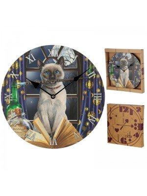 Wholesale Lisa Parker Hocus Pocus Cat Picture Wall Clock