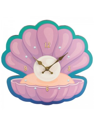 Clam Shell & Pearl Novelty Clock