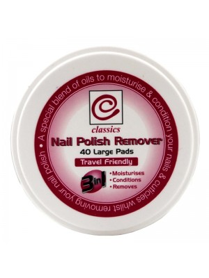 Wholesale Classics Nail Polish Remover Pads - 40 Large Pads