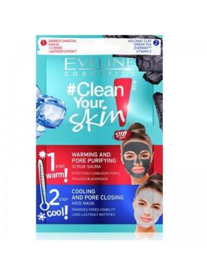 Wholesale Eveline Clean Your Skin 2 Steps Scrub Sauna And Krio Face Mask