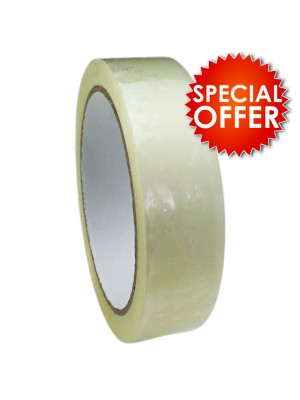 Clear Packing Tape - 6 Rolls (25mm x 66 Meters)