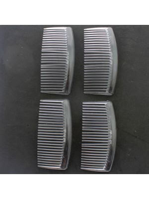 Large Slide Hair Combs (Clear)