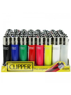 Clipper Flint Lighters - Bright Solid Colours