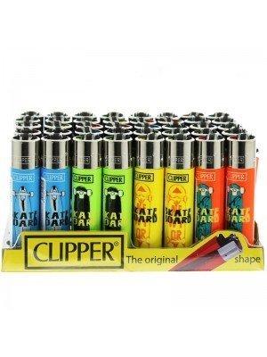 Clipper Flint Lighters - Skateboard Design