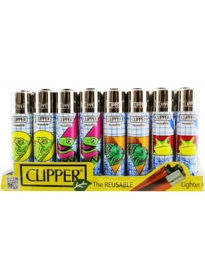 Wholesale Clipper Flint Reusable Animal Drawings Design Lighters - Assorted