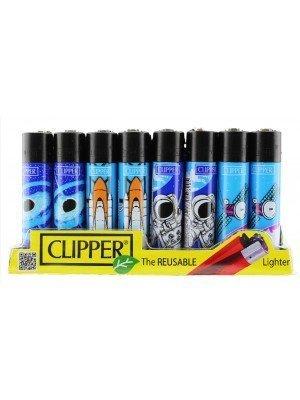 Clipper Flint Reusable Astronomic Design Lighters - Assorted