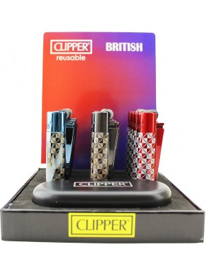 Clipper Flint Reusable Lighter With Gift Case - British (Assorted)
