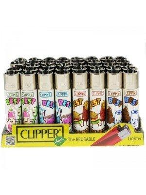 Wholesale Clipper Flint Reusable Lighters - Best Friends