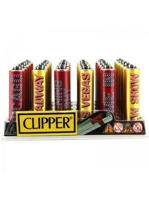 Wholesale Clipper Flint Reusable Lighters Assorted Designs - Broadway
