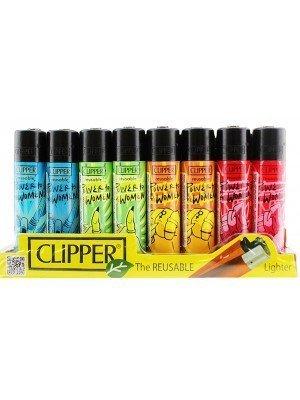 Wholesale Clipper Flint Reusable Lighters Feminism Design - Assorted