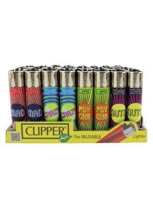 Wholesale Clipper Flint Reusable Lighters Psycho Ways Design - Assorted