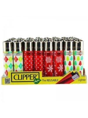 Wholesale Clipper Flint Reusable Lighters Winter Patterns - Assorted