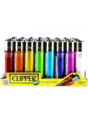 Wholesale Clipper Flint Reusable Plain Crystal Lighters - Assorted