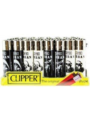 Wholesale Clipper Flint Reusable Urban Art Design Lighters - Assorted