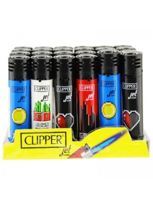 Wholesale Clipper Jet Refillable Lighters - Assorted Designs