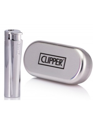Clipper Metal Jet Flame Electronic Reusable Lighter - Silver