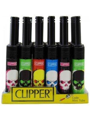 Wholesale Clipper Skull Design Mini Tube Utility Lighter