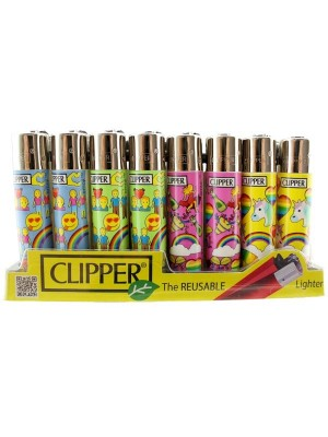 Clipper Flint Reusable Lighters Emoji Pride Design - Assorted
