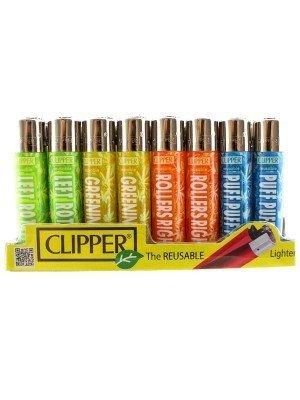 Clipper Flint Reusable Lighters Leaf Sentences Design - Assorted