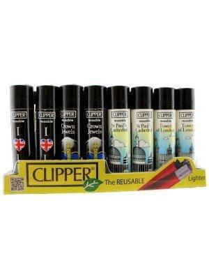 Clipper Flint Reusable Lighters London Design - Assorted