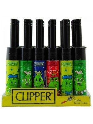 Wholesale Clipper Funny Cartoon Leaf Mini Tube Utility Lighter