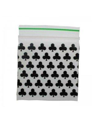 Grip Sealed Printed Baggies - Black Club Design (50mm x 50mm)