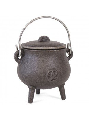 Wholesale Cast Iron Cauldron With Pentagram - 7cm