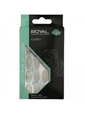 Wholesale Royal 24 Glue-On Nail Tips - Coffin