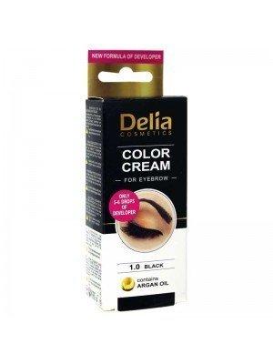 Wholesale Delia Color Cream For Eyebrow 1.0 Black With Argan Oil
