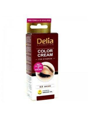 Wholesale Delia Color Cream For Eyebrow 4.0 Brown With Argan Oil