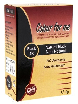 Wholesale Colour For Me Natural Permanent Powder Hair Colour - Black 1B